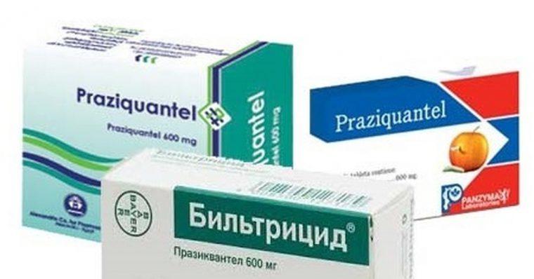 На фото антипаразитарные таблетки, с содержанием Празиквантел. Таблетки Бильтрицид его так-же содержат.