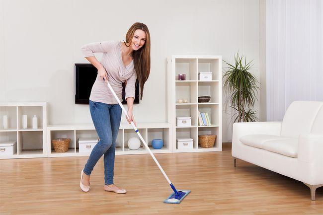 Влажная уборка - хорошее начало борьбы с блохами в квартире