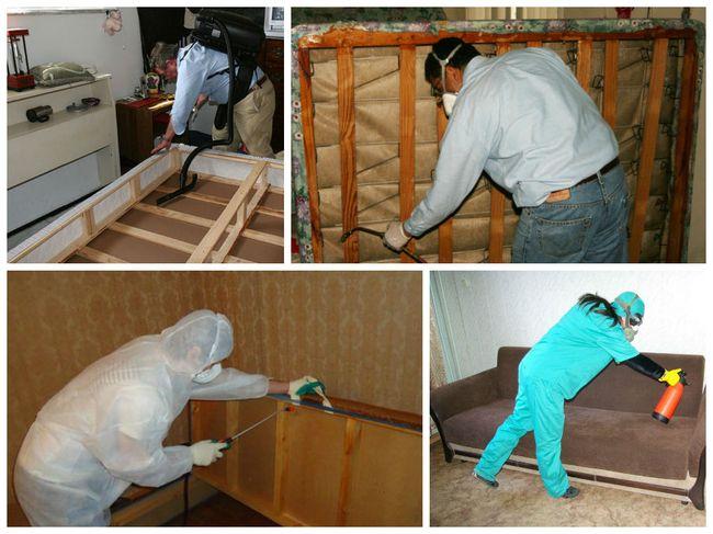 Обработку помещения от постельных клопов необходимо делать как минимум 2 раза, с перерывом в 10-14 дней