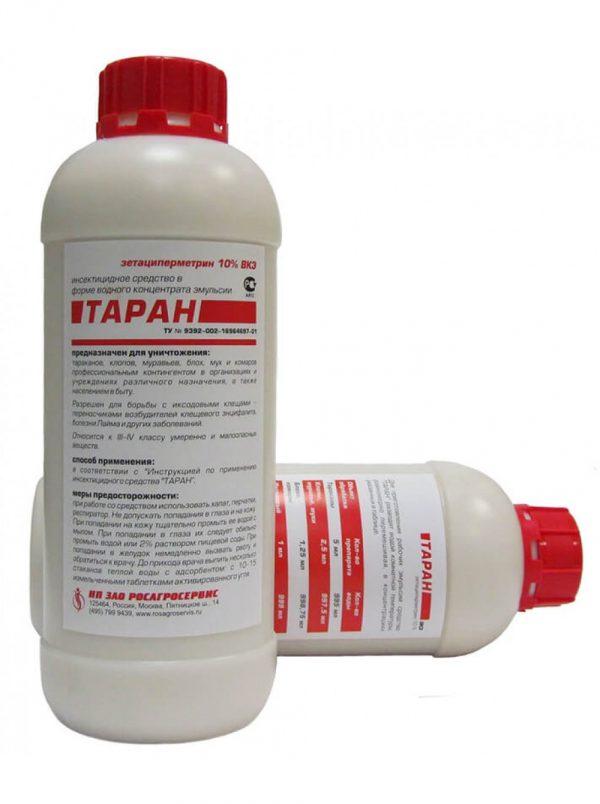 Таран является одним из самых действенных химических средств борьбы с клещами. При его применении обработка от клещей проводится один раз в течение сезона, сразу после схода снега