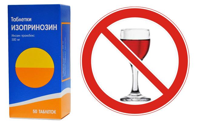 Совместный прием алкоголя и Изопринозина может привести к непредсказуемым последствиям