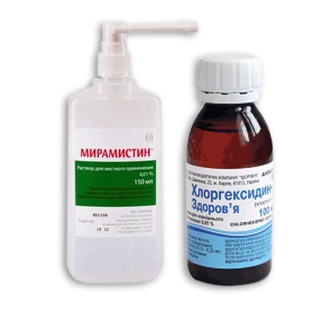Мирамистин и Хлоргексидин – препараты для наружного применения, используются для лечения воспалительных заболеваний слизистой горла. Обладают противовирусным и антибактериальным эффектом