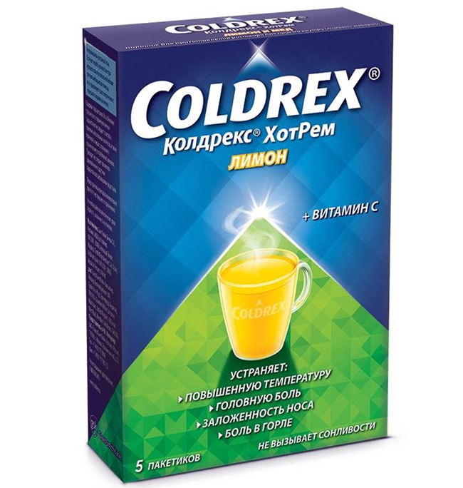 Колдрекс – комплексный лекарственный препарат, обладающий выраженным симпатомиметическим, иммуностимулирующим, антипиретическим и анальгетическим эффектом