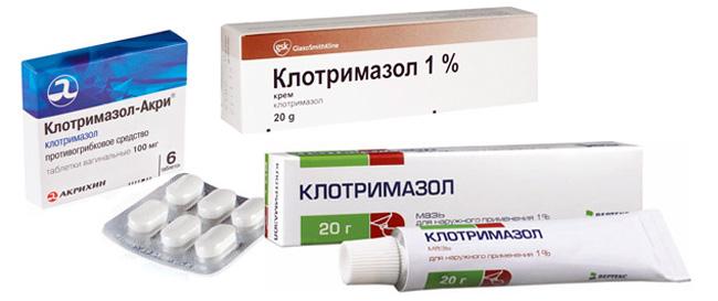 Клотримазол выпускают в форме мази, вагинальных таблеток, крема и геля