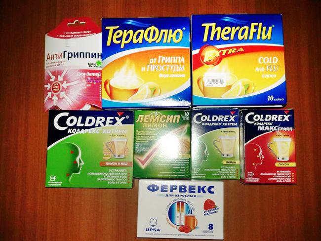 У Фервекс есть аналоги активным компонентам и терапевтическому эффекту