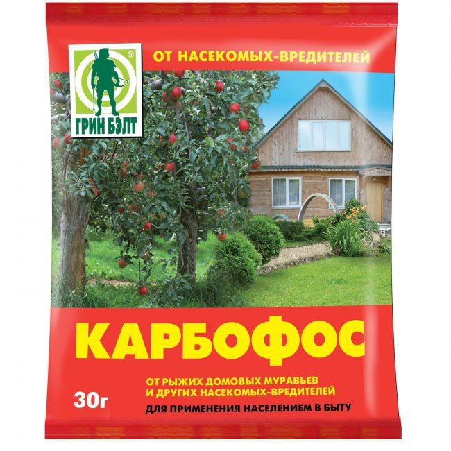 Нельзя использовать Карбофос во время цветения плодовых деревьев и декоративных растений, чтобы не убить пчел