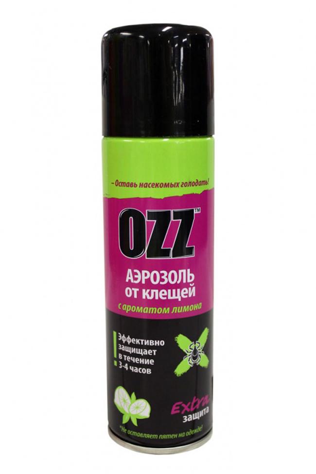 Достаточно известным средством от комаров является спрей OZZ, который предназначен только для взрослых