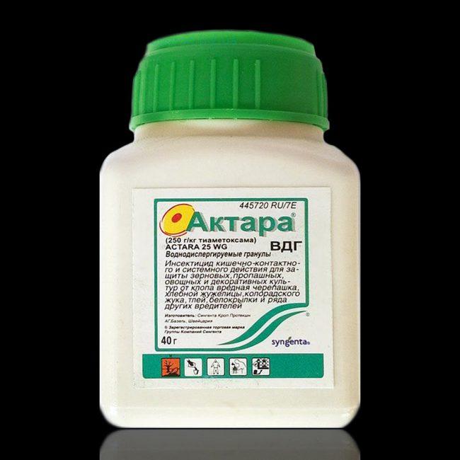 Актара относится к химическому классу неоникотиноидов, воздействуя на никотиново-ацетил-холиновые рецепторы нервной системы насекомых
