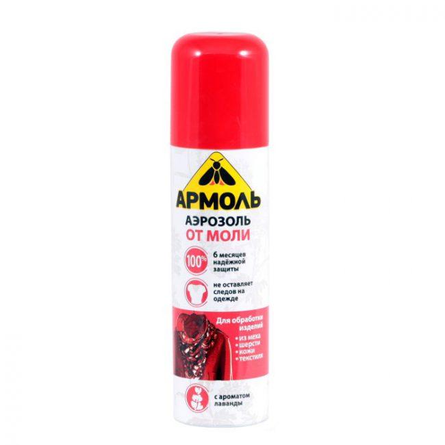 Аэрозоль от моли Армоль выгодно отличается от многих подобных средств отсутствием запаха