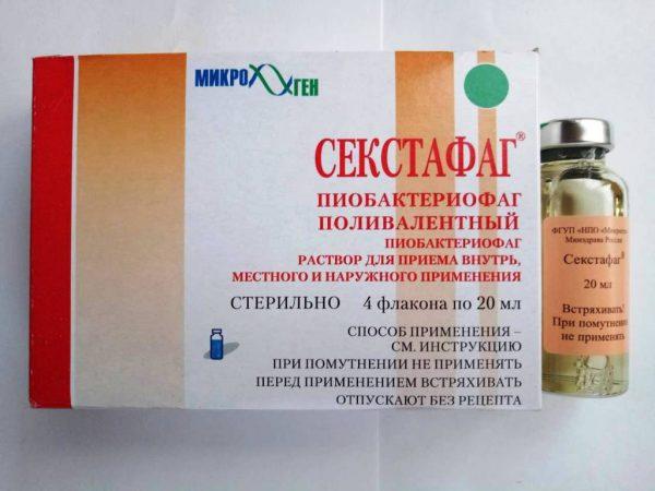 Секстафаг применяется для лечения заболеваний, вызванных стафилакокком, стрептококком, клебсиеллой, протеями, синегнойной и кишечной палочками